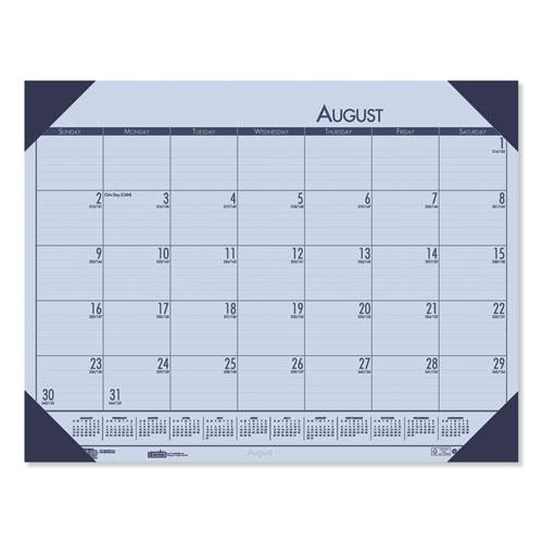 Recycled EcoTones Academic Desk Calendar, 18.5 x 13, Cordovan Corners, 2020-2021