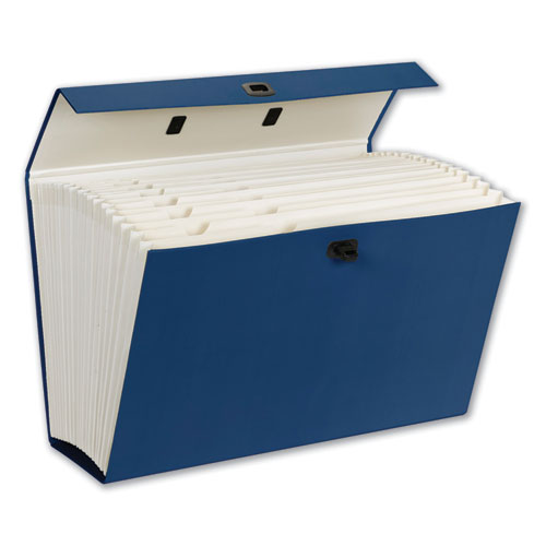 Expanding File Box, 16.63 Expansion, 19 Sections, 1/19-Cut Tab, Legal Size, Blue