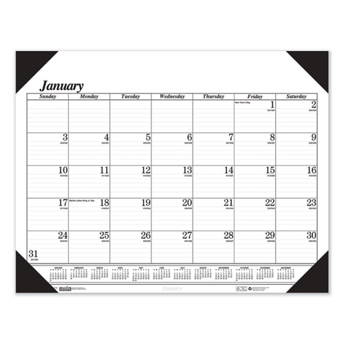 Recycled One-Color Refillable Monthly Desk Pad Calendar, 22 x 17, 2021