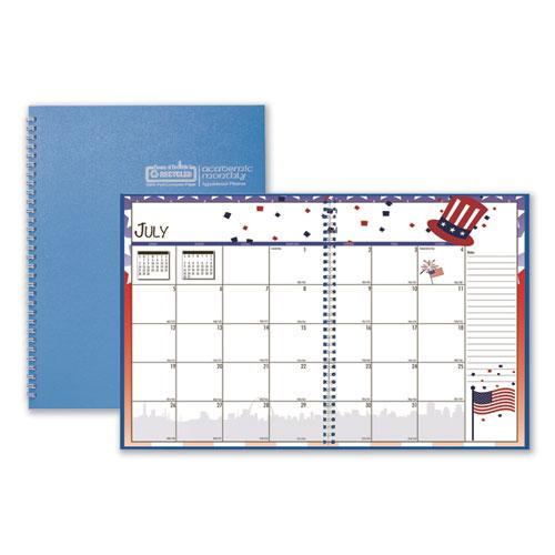 Seasonal Monthly Academic Planner, 10 x 7, Light Blue, 2020-2021