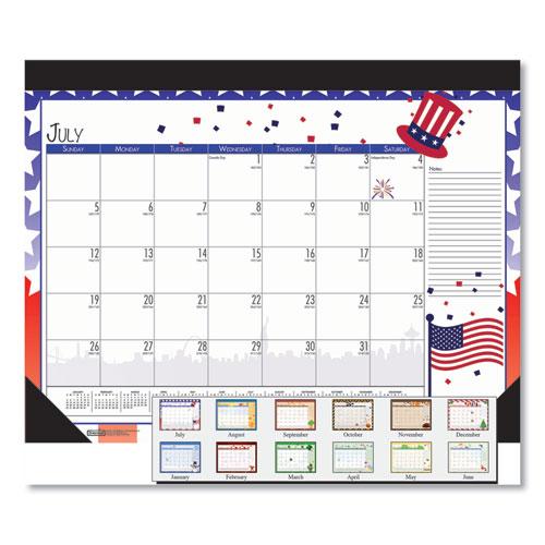 100 Recycled Seasonal Academic Desk Pad Calendar, 22 x 17, 2020-2021