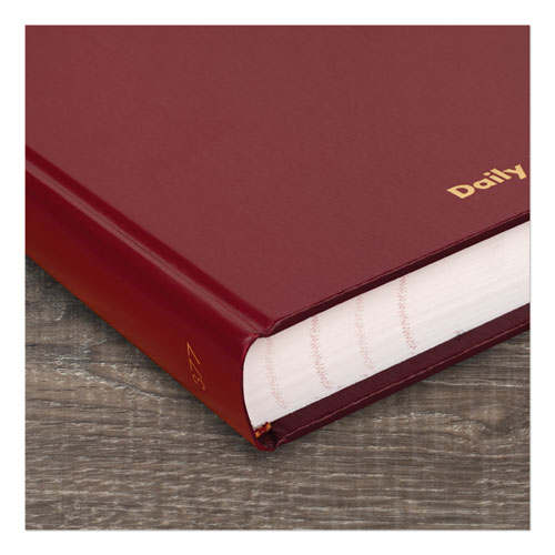 Standard Diary Recycled Daily Journal, Red, 12.13 x 7.69, 2021
