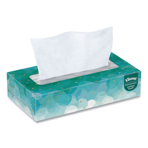 White Facial Tissue, 2-Ply, White, 100 Sheets/Box, 10 Boxes/Bundle, 6 Bundles/Carton