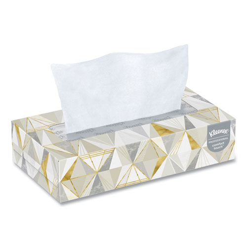 White Facial Tissue, 2-Ply, 125 Sheets/Box, 12 Boxes/Carton