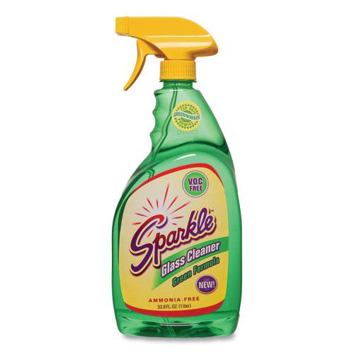 Green Formula Glass Cleaner, 33.8 oz Bottle, 12/Carton