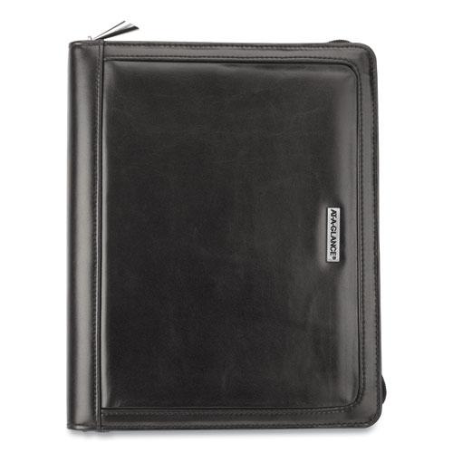 AT-A-GLANCE® Faux Black Leather Starter Set, 10.4 x 8.7, Black