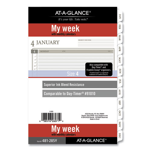 2-Page-Per-Week Planner Refills, 8.5 x 5.5, White, 2021