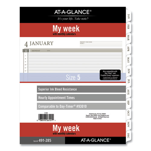 2-Page-Per-Week Planner Refills, 11 x 8.5, White, 2021