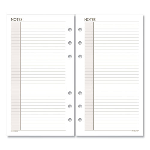 AT-A-GLANCE® Lined Notes Pages, 8.5 x 5.5, White, 30/Pack