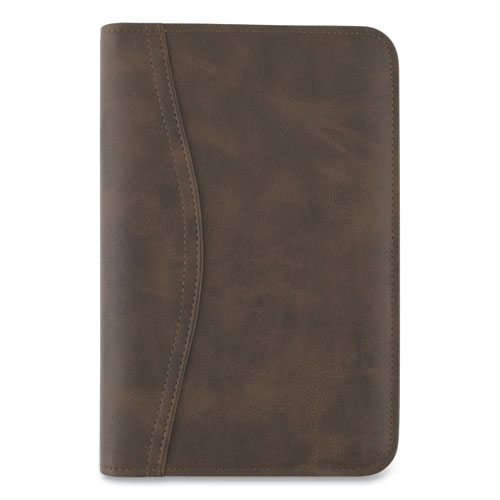 AT-A-GLANCE® Distressed Brown Leather Starter Set, 6.75 x 3.75, Brown