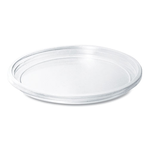 Bare Eco-Forward RPET Deli Container Lids, For 8-32 oz Containers, Clear, 50 Lids/Sleeve, 10 Sleeves/Carton