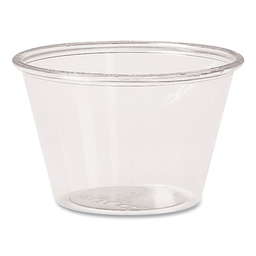 Portion Containers, Polypropylene, 4 oz, Clear, 250/Bag, 10 Bags/Carton