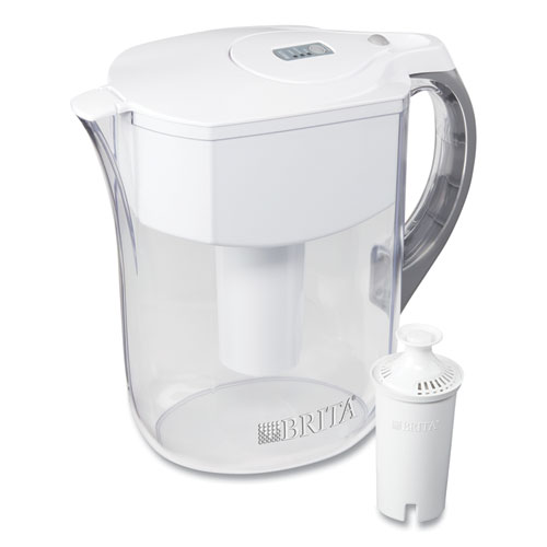 Grand Water Pitcher, 10 Cups, White/Clear
