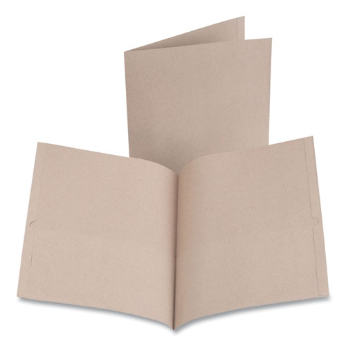 Earthwise by Oxford 100/% Recycled Paper Twin-Pocket Portfolio Natural