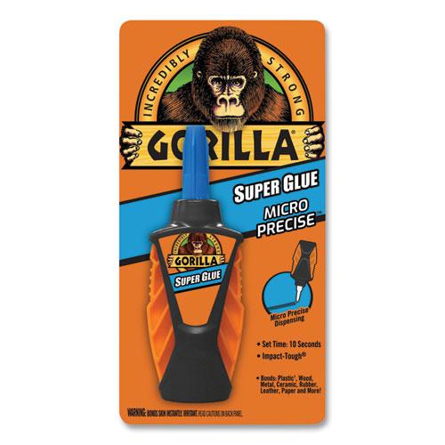 Super Glue Micro Precise, 0.19 oz, Dries Clear, 4/Carton