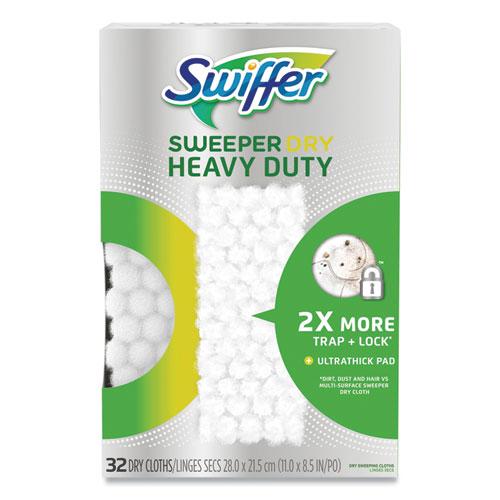 Heavy-Duty Dry Refill Cloths, White, 11 x 8.5, 32/Pack