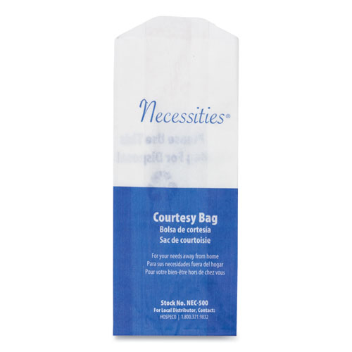 Feminine Hygiene Convenience Disposal Bag, 3 x 7.75, White, 500/Carton