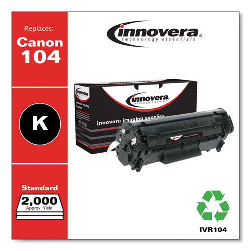 Remanufactured Black Toner, Replacement for Canon 104 (0263B001AA), 2,000 Page-Yield