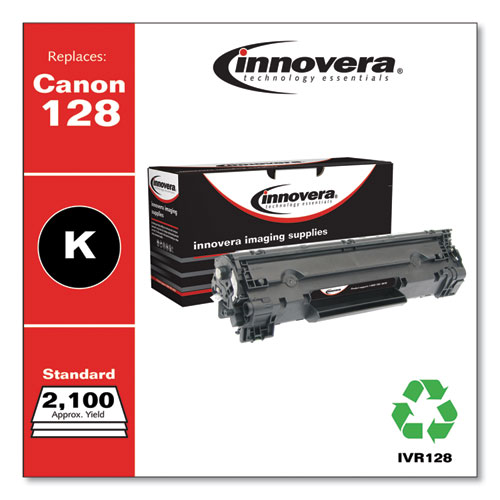 Remanufactured Black Toner, Replacement for Canon 128 (3500B001AA), 2,100 Page-Yield