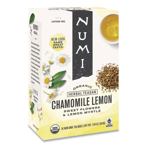 Organic Teas and Teasans, 1.8 oz, Chamomile Lemon, 18/Box