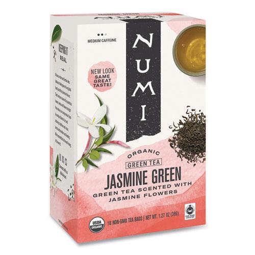 Organic Teas and Teasans, 1.27 oz, Jasmine Green, 18/Box