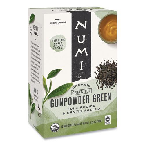 Organic Teas and Teasans, 1.27 oz, Gunpowder Green, 18/Box