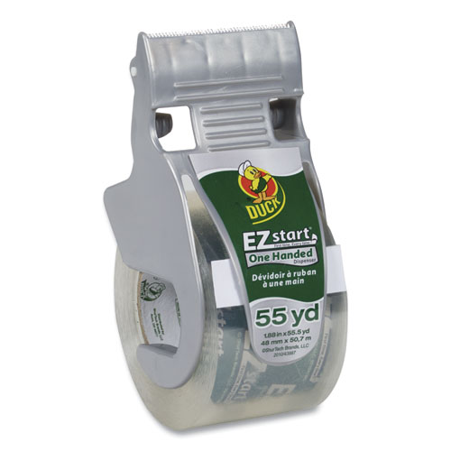 EZ Start Premium Packaging Tape with Dispenser, 1.5 Core, 1.88 x 55.5 yds, Clear