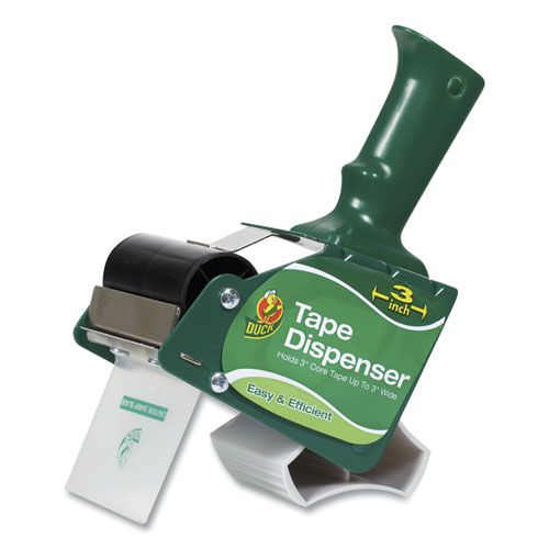 Extra-Wide Packaging Tape Dispenser, 3 Core, Green