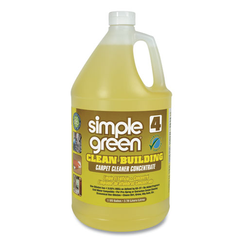 Simple Green® Clean Building Carpet Cleaner Concentrate, Unscented, 1gal Bottle