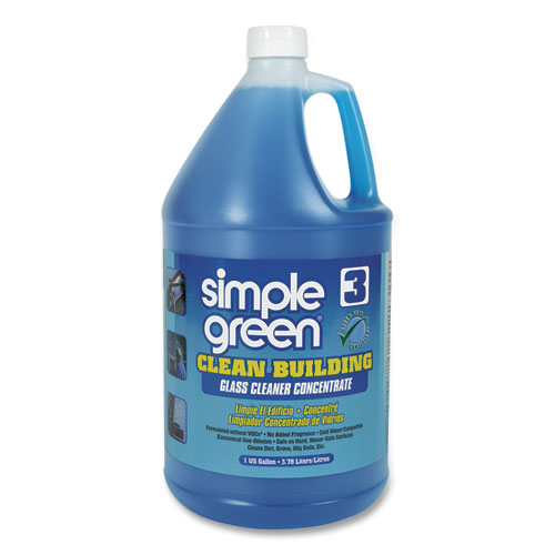 Simple Green® Clean Building Glass Cleaner Concentrate, Unscented, 1gal Bottle