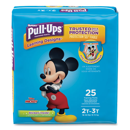 Pull-Ups Learning Designs Potty Training Pants for Boys, Size 2T-3T, 25/Pack