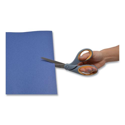 "Titanium Bonded Scissors, 8"" Long, 3.5"" Cut Length, Gray/Yellow Offset Handle"