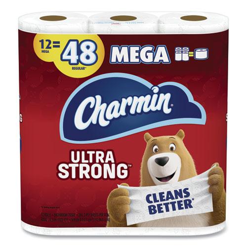 Ultra Strong Bathroom Tissue, Septic Safe, 2-Ply, White, 286 Sheet/Roll, 4/Carton