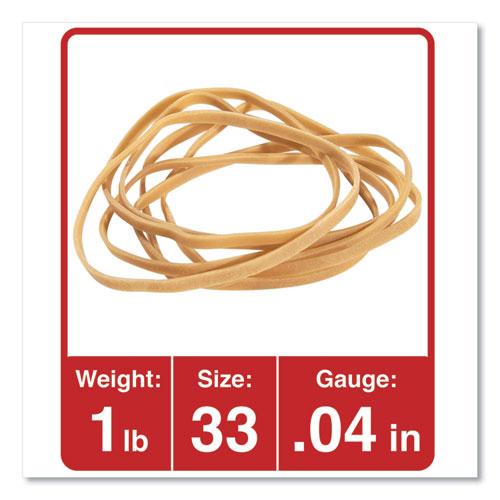 Rubber Bands, Size 33, 0.04 Gauge, Beige, 1 lb Box, 640/Pack
