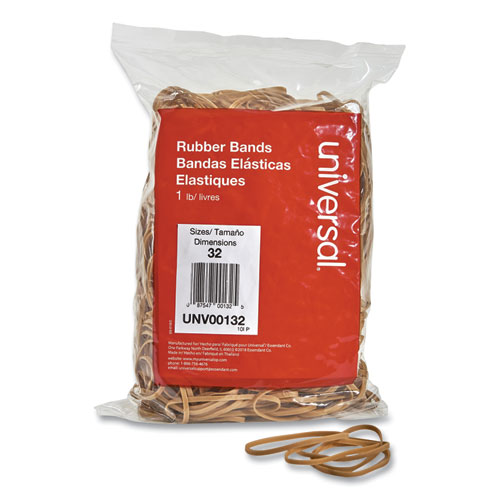 Rubber Bands, Size 32, 0.04 Gauge, Beige, 1 lb Box, 820/Pack