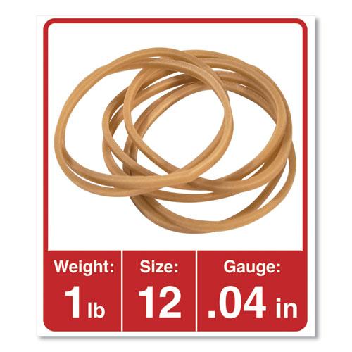 Rubber Bands, Size 12, 0.04 Gauge, Beige, 1 lb Box, 2,500/Pack