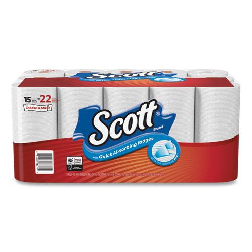 Scott® Choose-A-Sheet Mega Roll Paper Towels, 1-Ply, White, 102/Roll, 30 Rolls Carton