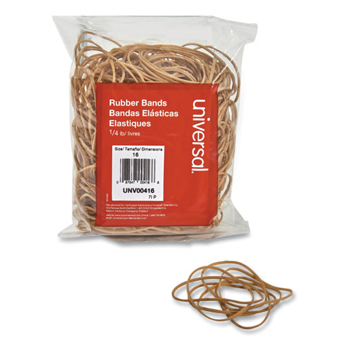 Rubber Bands, Size 16, 0.04 Gauge, Beige, 4 oz Box, 475/Pack