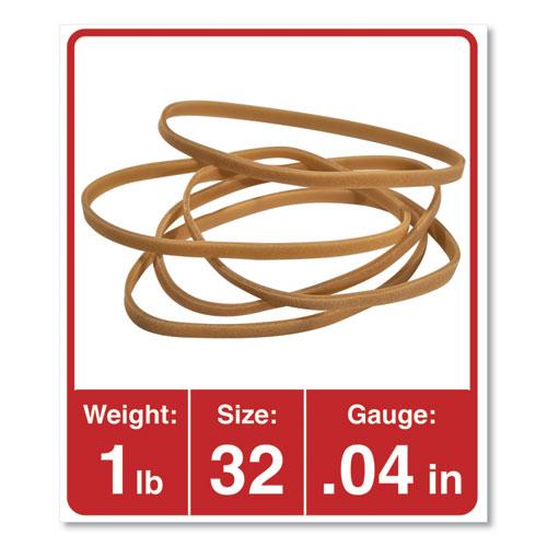 Rubber Bands, Size 32, 0.04 Gauge, Beige, 1 lb Box, 820/Pack