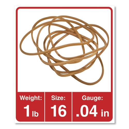 Rubber Bands, Size 16, 0.04 Gauge, Beige, 1 lb Box, 1,900/Pack