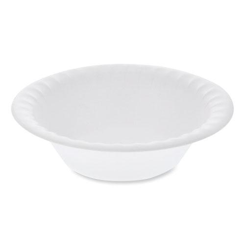 "Pactiv Unlaminated Foam Dinnerware, Bowl, 12 oz, 6"" dia, White, 1,000/Carton"