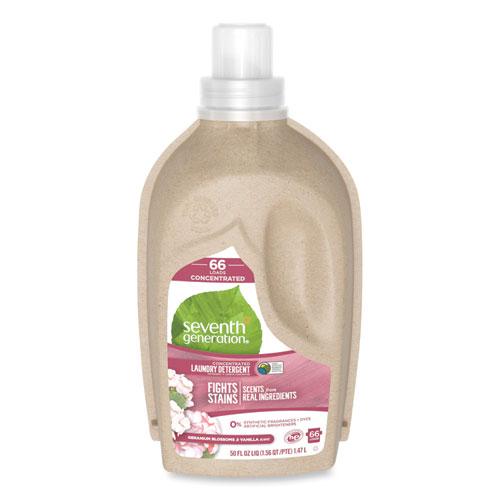 Natural Liquid Laundry Detergent, Geranium Blossoms and Vanilla, 50 oz Bottle, 6/Carton
