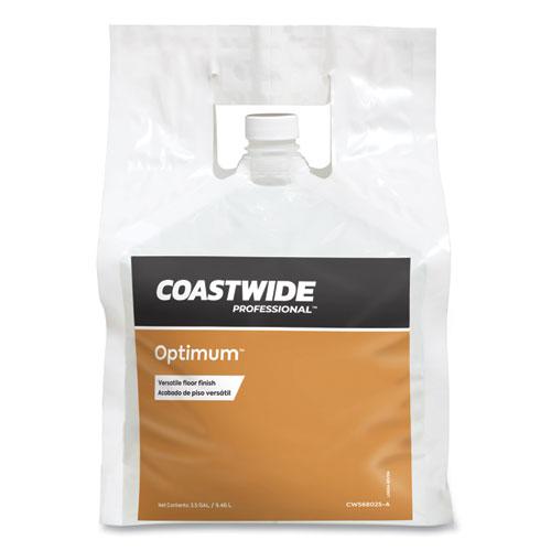 Optimum Floor Finish, Unscented, 2.5 gal Bag, 2/Carton