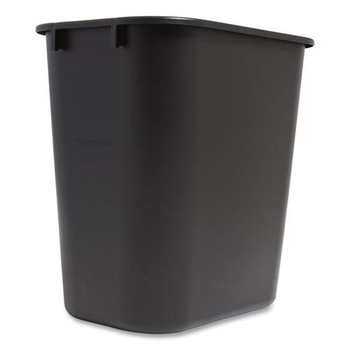 Coastwide Professional™ Open Top Indoor Trash Can, Plastic, 7 gal, Black