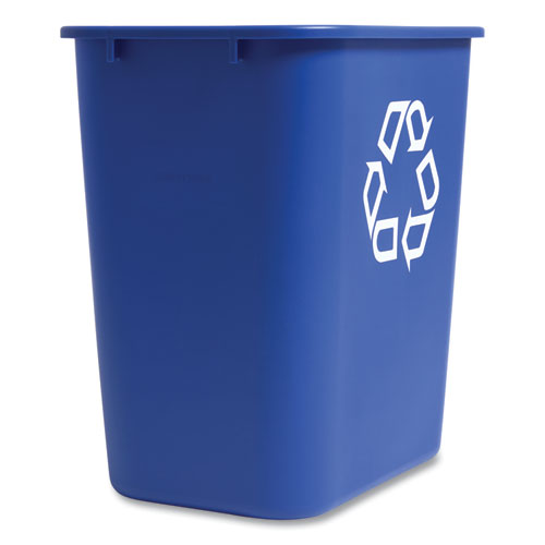 Coastwide Professional™ Open Top Indoor Recycling Container, Plastic, 7 gal, Blue