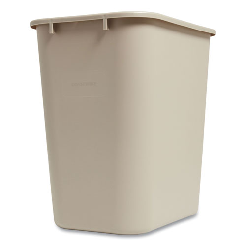 Coastwide Professional™ Open Top Indoor Trash Can, Plastic, 10.25 gal, Beige