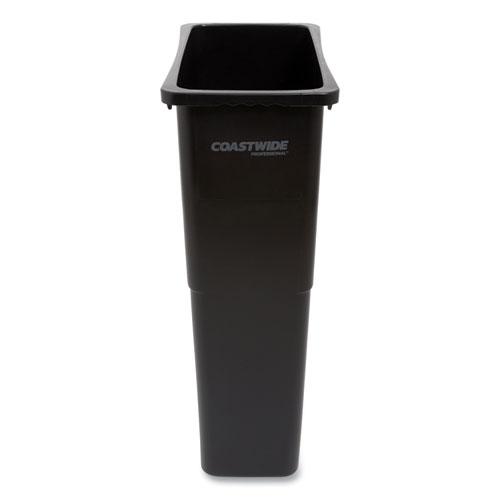 Coastwide Professional™ Slim Open Top Trash Can, Plastic, 23 gal, Black
