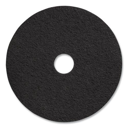 "Coastwide Professional™ Stripping Floor Pads, 20"" Diameter, Black, 5/Carton"