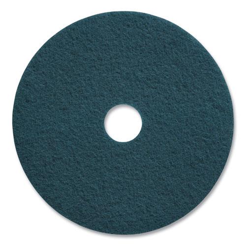 "Coastwide Professional™ Cleaning Floor Pads, 20"" Diameter, Blue, 5/Carton"