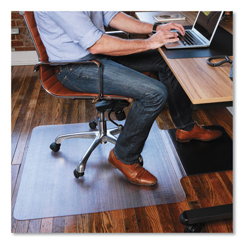 Sit or Stand Mat for Carpet or Hard Floors, 36 x 53 with Lip, Clear/Black